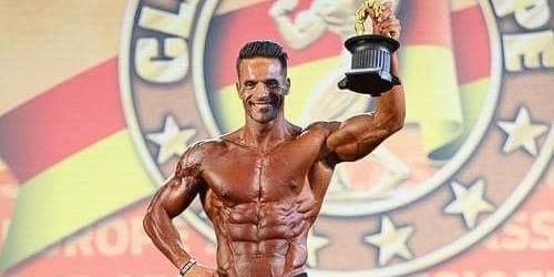 Courense Nelson Rodrigues campeão europeu em Men's Physique