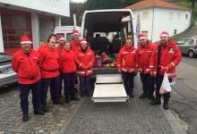 Bombeiros proporcionaram um Natal mais feliz às crianças courenses