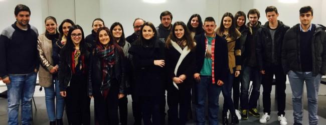 Filipe Ferreira à frente dos jovens socialistas